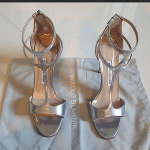 Manolo Blahnik T strap sandals